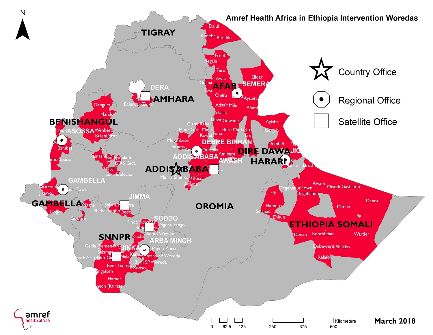 Amref Health Africa works throughout Ethiopia