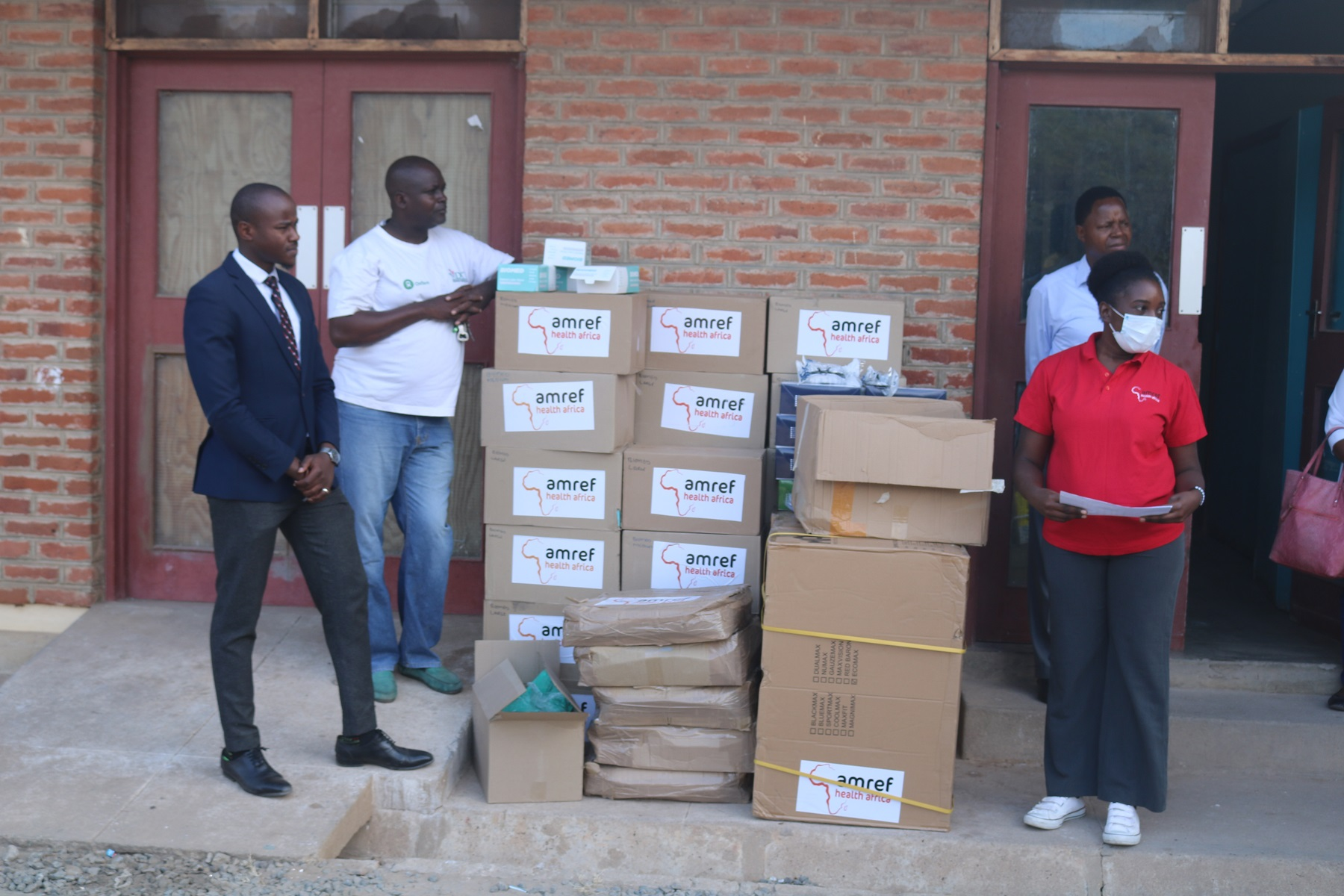 COVID PPE donation at Mangochi District Hosp